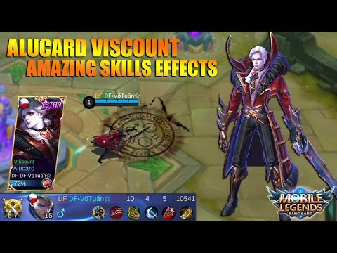 NEW SKIN ALUCARD VISCOUNT - Amazing Skills Effects and Animation Gameplay (Mobile Legends)