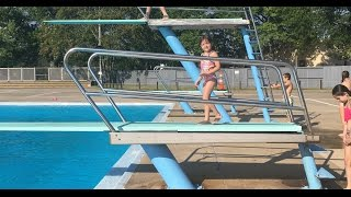 6 Year Old Allie Faces Her Fear & Goes Off Diving Board For 1st Time!