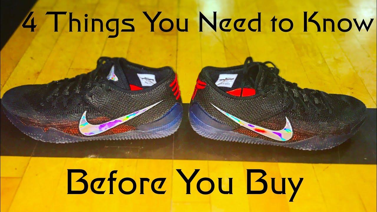 sale retailer c23b1 c738c Nike Kobe AD NXT 360: 4 Things Before you Buy - YouTube