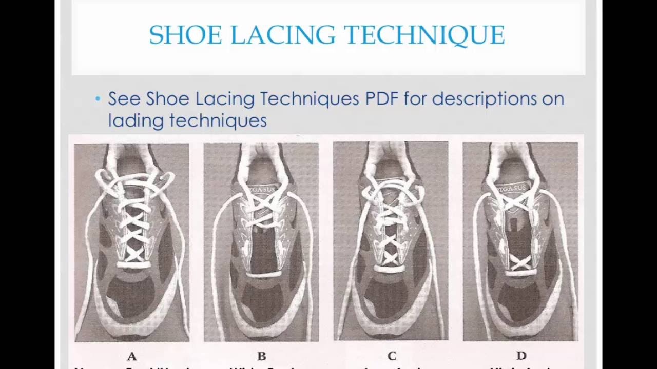 Lab 2 Arch and Foot Type And Lacing Techniques
