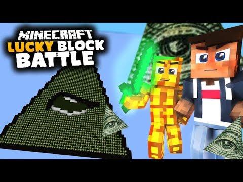 Illuminati Dreieck aus 5000 LUCKY BLÖCKEN   Lucky Block Battle