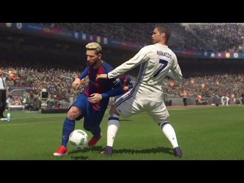 PES 2017 GAMEPLAY PS4 |BARCELONA VS REAL MADRID |El CLASICO LA LIGA BBVA |CAMPNOU