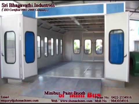 21 years professional Indian Bus Painting Spray Booth
