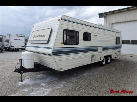 1991 dutchmen classic 260 walk thru r14907b youtube rh youtube com Inside of a Travel Trailer 2001 Sundance 1991 Fleetwood Travel Trailer