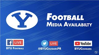 BYU Football - Media Availability - October 28, 2019