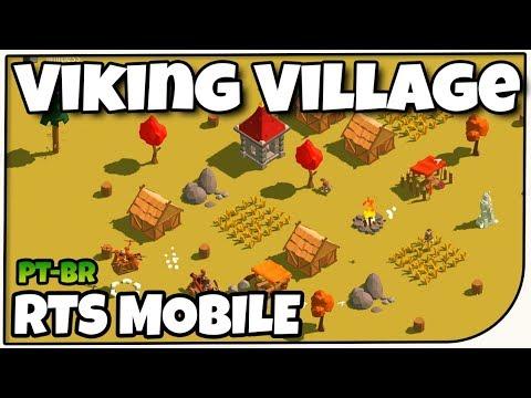 Viking Village - RTS Viking pra Mobile - Gameplay em Português PT-BR
