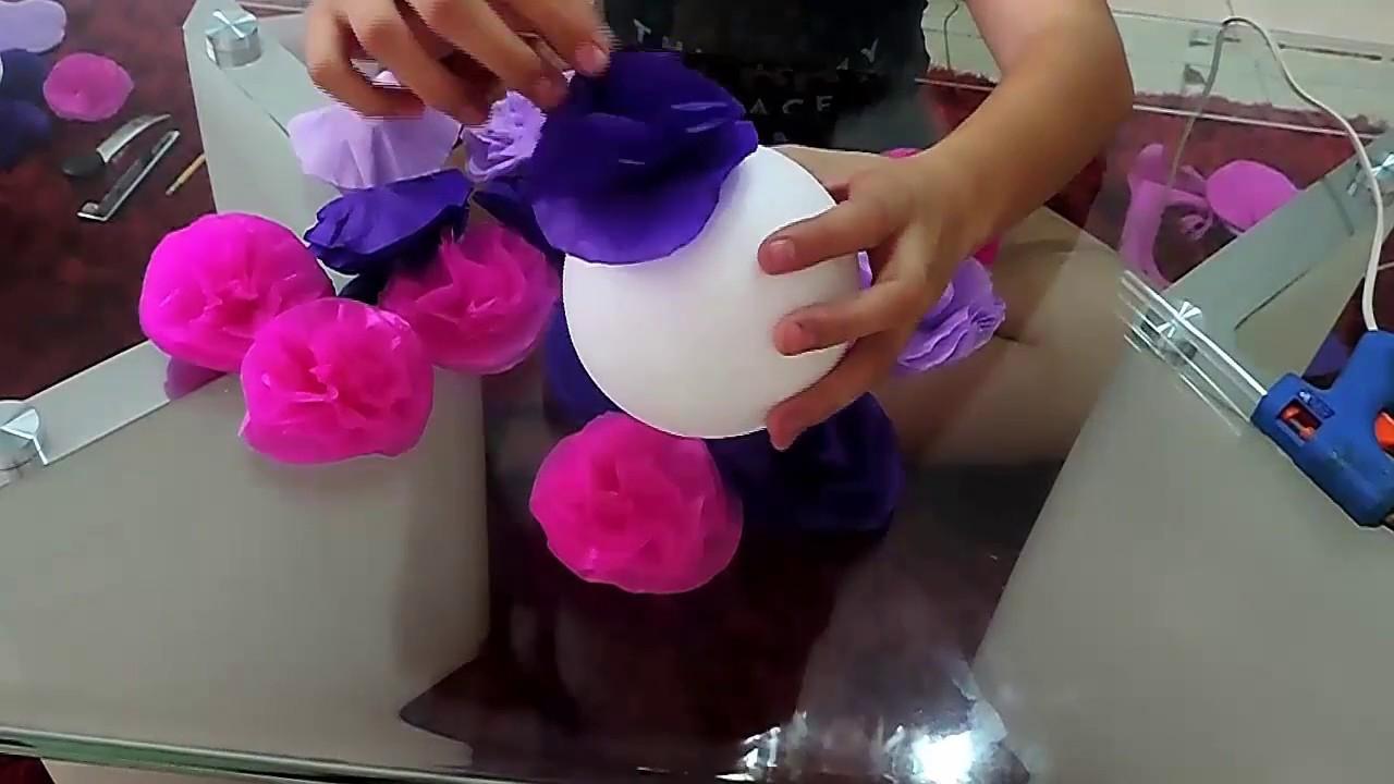 Decoraciones bonitas con flores de papel youtube - Decoraciones de papel ...