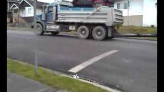 Kenworth Dump Truck with pup trailer