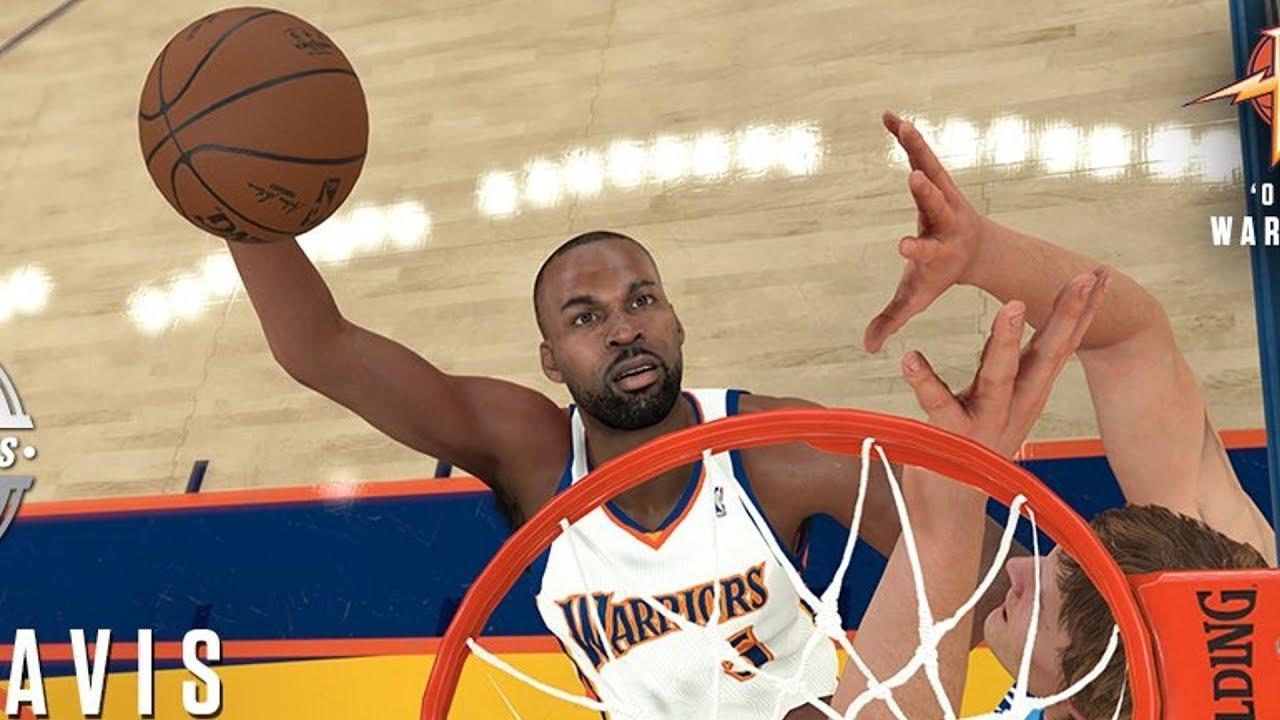 NBA 2K18 Baron Davis and Warriors Classic Team