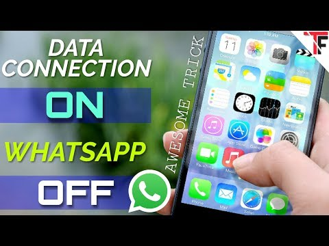 Disable Whatsapp When Data Connection Is On