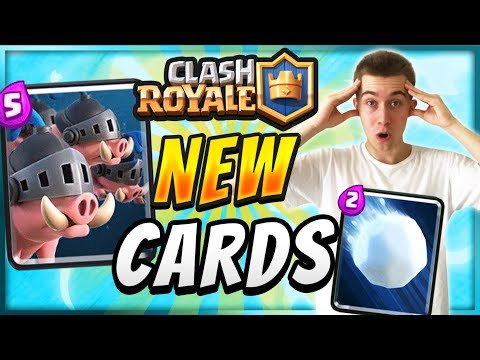 NEW CARDS! SNOWBALL & ROYAL HOGS  — Clash Royale
