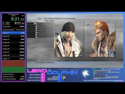 Final Fantasy XIII - Any% RTA Speedrun [PC] - 4:54:36 [PC WR as of January 16, 2017)