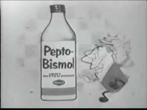 Animated Pepto-Bismol Commercial (1956) - Remastered