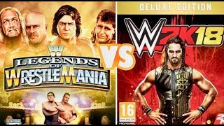 WWE Legends of Wrestlemania Finishers VS WWE 2K18 Finishers Comparison 👌😍 WHO IS THE BEST 😍👏