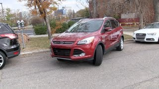 2013 Ford Escape: Man vs Machine Self-Parking Challenge & Tech Review(http://www.TFLcar.com ) The new 2013 Ford Escape Titanium edition can park itself. Using a series of sensor and electronic steering the Escape can pull into a ..., 2012-10-25T02:14:51.000Z)