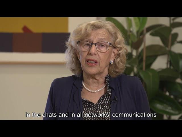 Manuela Carmena, alcaldesa del Ayuntamiento de Madrid - Foro de la Paz 2018 subtitulado