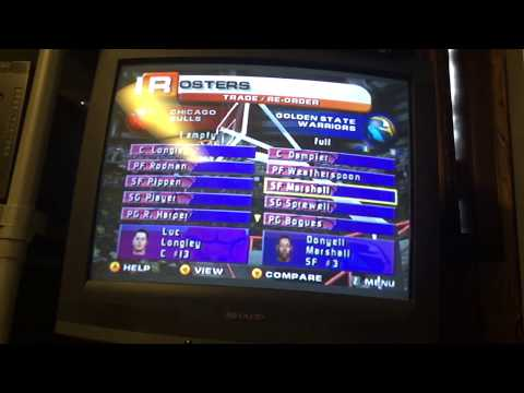 All original rosters for NBA Live 1998-99 (N64)