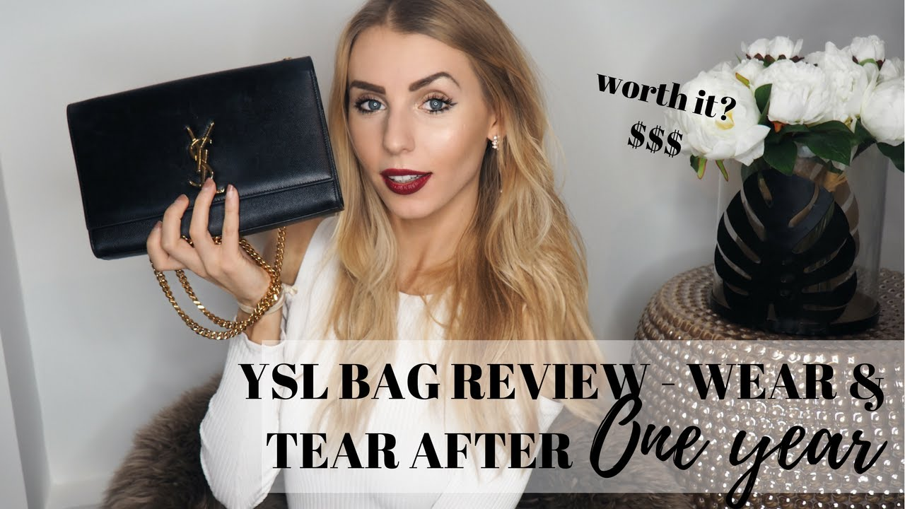 f5d91a5ee9b7 YSL MONOGRAM KATE BAG REVIEW AFTER ONE YEAR - WEAR TEAR