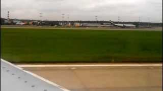 Landing Boeing 737-500. Nordavia. Sheremetyevo International Airport
