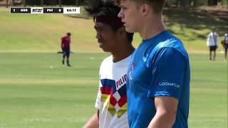 WFDF World Under 24 Ultimate Championship: Great Britain v Philippines - Men''s