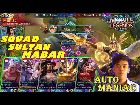 SQUAD SULTAN MABAR - AUTO MANIAC - BTC (BITCOINERS) MOBILE LEGENDS INDONESIA