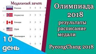 Олимпиада 2018. Результаты, расписание, медальный зачет. День 10