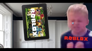 Little Brother cries over ROBLOX! (WHYY)