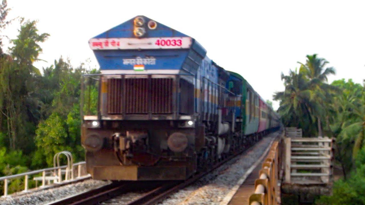 Speeding Trains on a Pleasant Konkan Evening