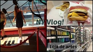 NY Vlog8 | Loja do piano; Harmon Face Values; The container store; Michaels