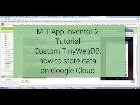 Android Tutorial - Create Custom TinyWebDB for MIT App Inventor 2