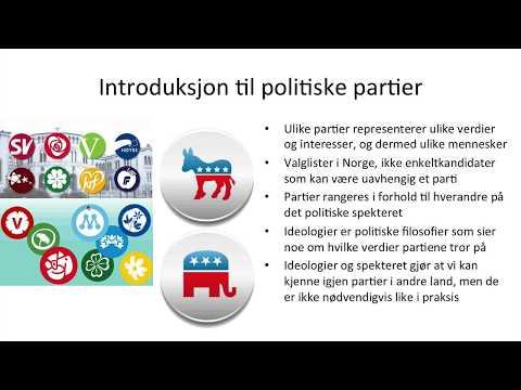Samfunnsfag - Norske politiske partier