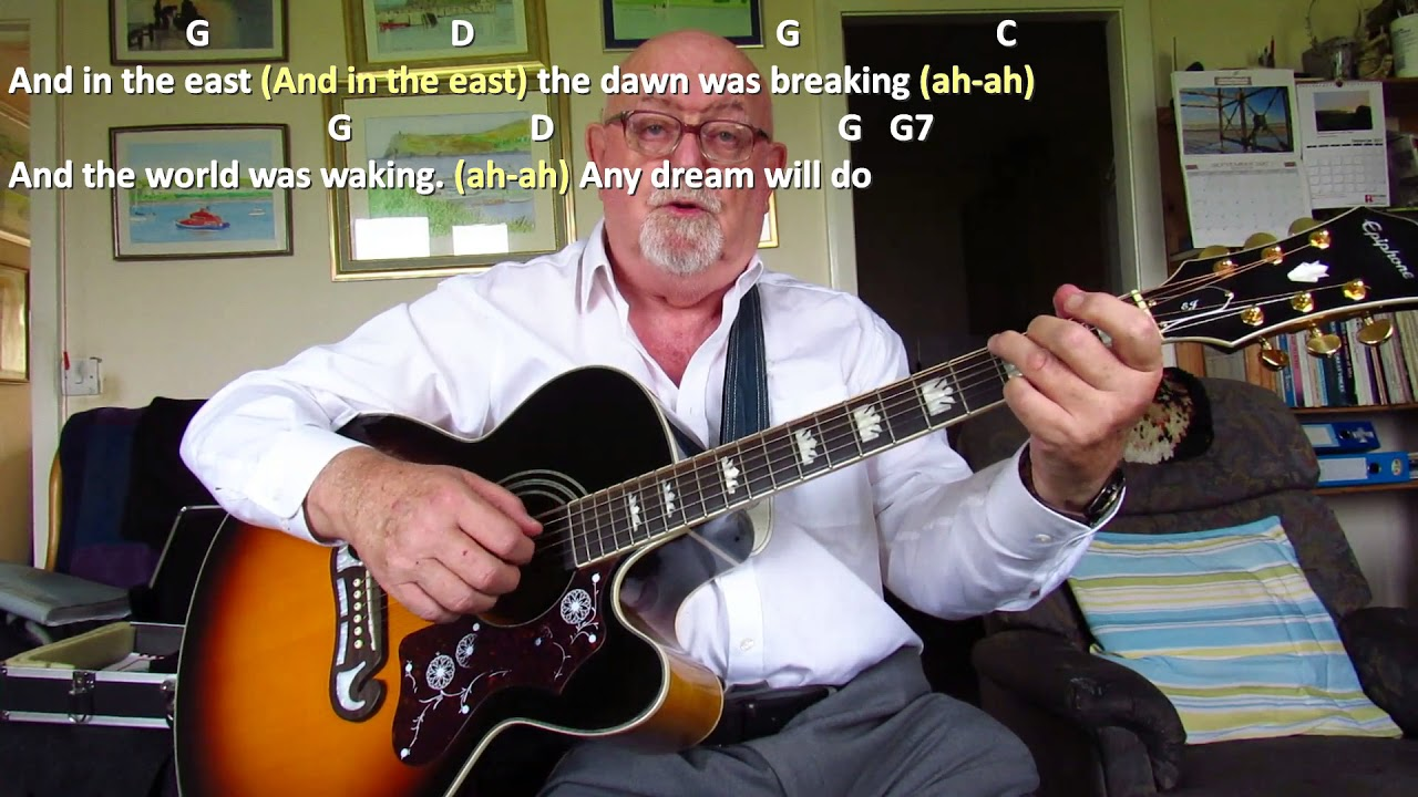 guitar any dream will do including lyrics and chords youtube. Black Bedroom Furniture Sets. Home Design Ideas