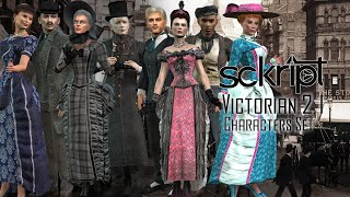 Sckript Victorian Characters Set  Promo