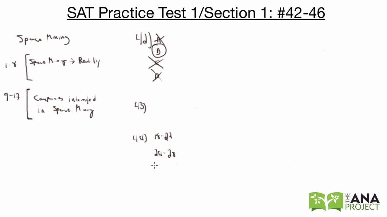 SAT Practice Test 1, Passage 5: #42-46