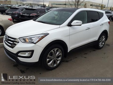 pre owned white 2013 hyundai santa fe awd 4dr sport 2 0t auto limited wetaskiwin alberta. Black Bedroom Furniture Sets. Home Design Ideas