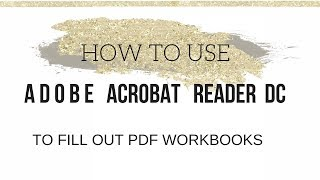 Add Text to a PDF using Adobe Acrobat Reader DC