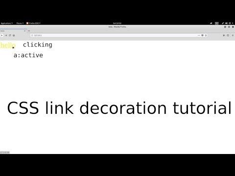 CSS link decoration tutorial thumbnail
