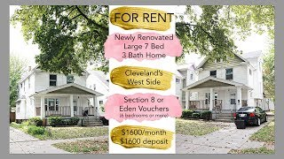 FOR RENT Section 8 House Located on the West Side of Cleveland