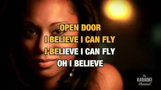 "I Believe I Can Fly in the Style of ""R. Kelly"" karaoke video with lyrics (no lead vocal)"