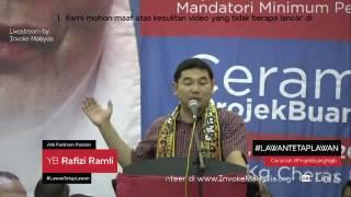 (BARU!!)Ceramah terakhir Full Rafizi Ramli #ProjekBuangNajib (part2!!)