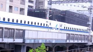 JR東海 新幹線N700A JR東日本武蔵小杉駅付近を通過