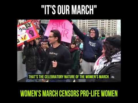 Women's March Censors Pro-Life Women