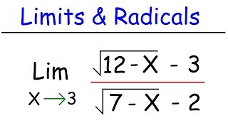 How To Evaluate Liṁits of Radical Functions