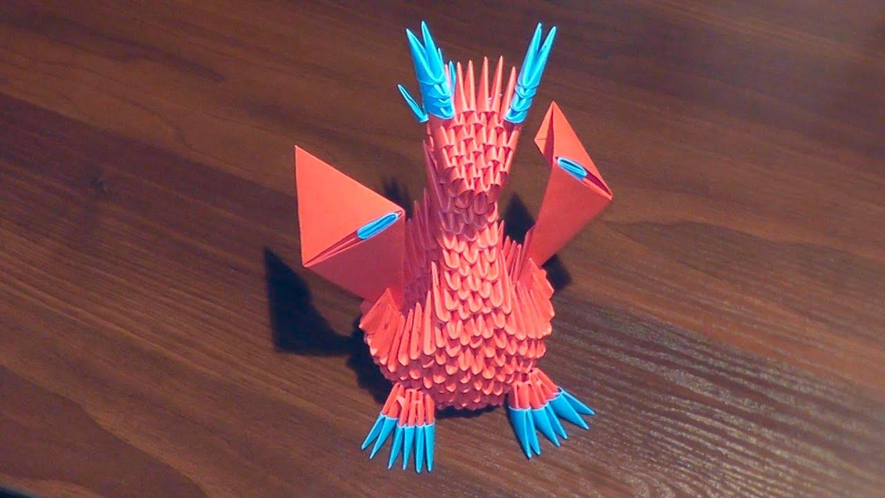 большой модульный оригами дед мороз схема