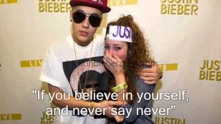 If Only I Could Meet You ~ Song For Justin Bieber (Lyrics On Screen)