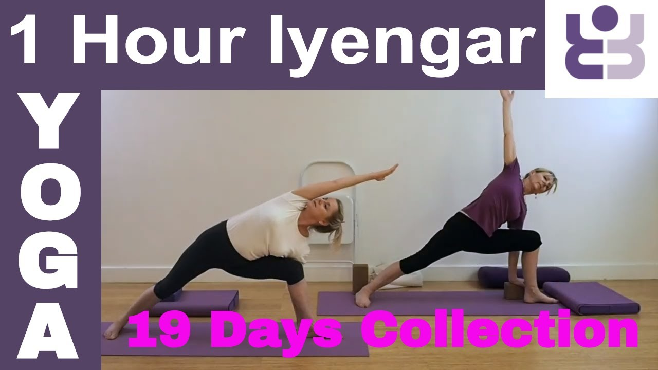 One Hour Iyengar Yoga Class 19 Days Of Yoga Collection Youtube