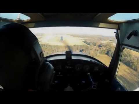 1946 Cessna 120 Crosswind Landing