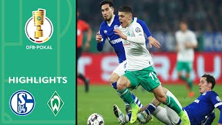 Bremen advances with two brilliant goals | Schalke 04 vs. Werder Bremen 0-2 | Highlights | DFB Cup