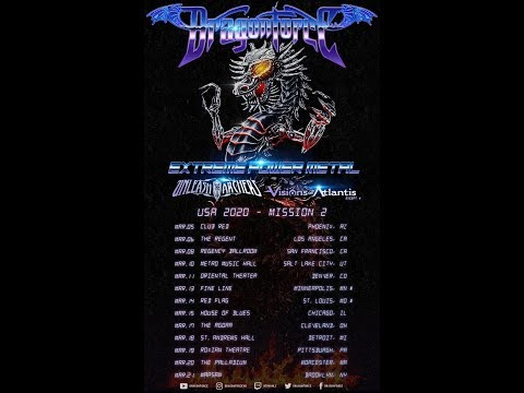 DRAGONFORCE tour w/ Unleash The Archers, Visions Of Atlantis ..!