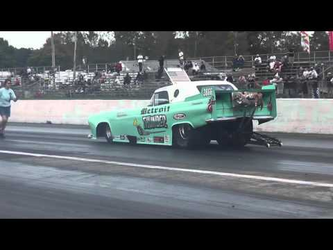 Detroit Thunder Milan Dragway Nostalgia Drags 09 26 2015